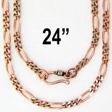 solid copper necklace images Solid copper 24 quot figaro necklace chain nc41 solid copper 4mm jpg