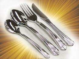 disposable cutlery 40 sets plastic silverware looks like silver