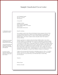 best ideas of unsolicited cover letter pdf on resume sample