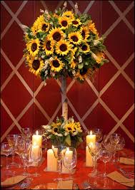 table centerpieces with sunflowers fall topiary centerpieces this sunflower topiary is so fresh and