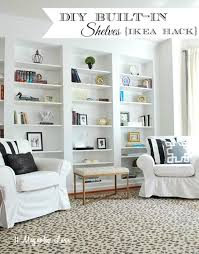 how to build diy built in bookcases from ikea billy bookshelves