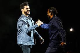 the weeknd brings out kendrick lamar during l a show young