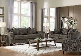 cindy crawford living room sets picture of cindy crawford home sidney road gray 5 pc living room
