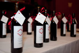 wine bottle favors wedding favors christine meahan designs