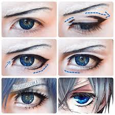 wow i ts so prettyyyyy more ciel phantomhive eyeciel phantomhive cosplayanime eye makeupanime