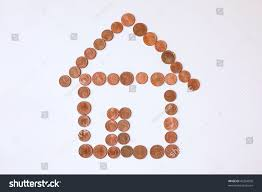 Shape Of House by Shape House Made Out Cents Pennies Stock Photo 40334050 Shutterstock