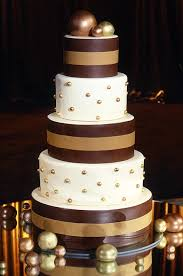 wedding cake layer masculine and feminine elements combine with this sharp brown and