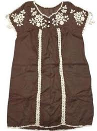brown blouse embroidered tunic tops blouses ebay