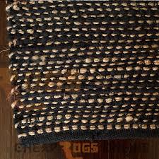 Large Jute Rug Ibis Black Jute And Cotton Rug 75x240cm Runner Natural Floor