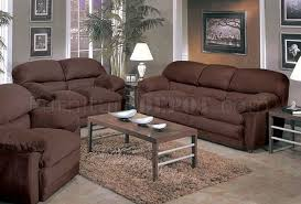 espresso micro suede oversized sofa u0026 loveseat set