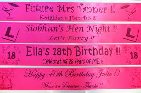 happy birthday sash hot pink black personalised sashes