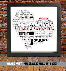 40 wedding anniversary gift personalized 40th wedding anniversary ruby wedding anniversary