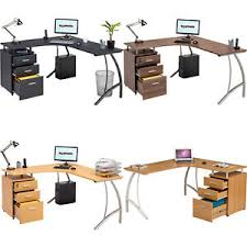 Piranha Corner Computer Desk Large Corner Computer Desk A4 Filing Drawer For Home Office