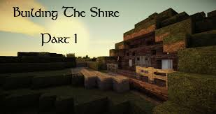 minecraft building the shire 1 the first hobbit hole youtube