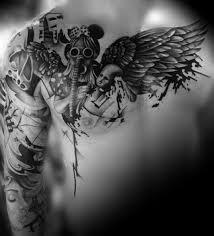 35 graceful wings shoulder tattoos