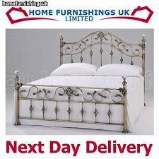 harmony classic antique elizabeth 4ft6 double brass metal bed