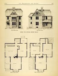 cottage building plans 1884 print cottage house architecture floor plans