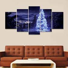 5 piece canvas art living room christmas decorations for home