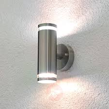 led garden wall light with astro 7061 oslo 160 2 led outdoor ip65