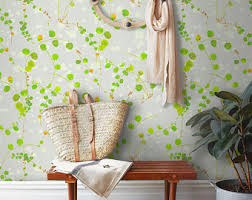 Temporary Wallpaper Uk Botanical Wallpaper Etsy