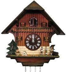 Modern Cuckoo Clock Hones Chalet Style Quartz Cuckoo Clock Cottage With Three Man