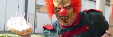 where to rent a clown for a birthday party1860 gown evil clown for hire will stalk your kids and smash cake in their