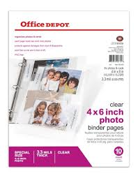 photo pages 4x6 office depot brand photo pages 4 x 6 pack of 10 by office depot