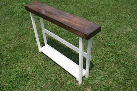 very small console table very narrow diy console table made from reclaimed wood with storage