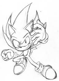 classic super sonic coloring pages themanya
