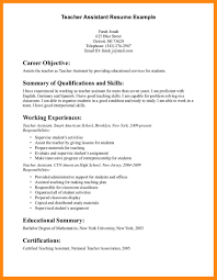 Instructional Aide Resume Objective For Teachers Assistant Resume