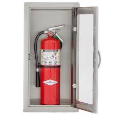 semi recessed fire extinguisher cabinet fire extinguisher cabinets bbqguyscom inch stainless steel semi