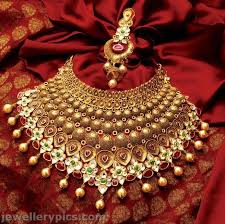wedding jewelry choker necklace images Exclusive tbz gold necklace choker bridal collection designs jpg