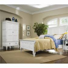 White Wood King Bed Frame Furniture Bedroom Decoration Using White Wood King Bed