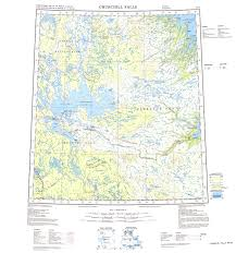 Churchill Canada Map by Churchill Falls Map View Online