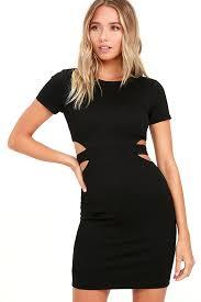 black cut out dress black dress bodycon dress lbd cutout dress 56 00
