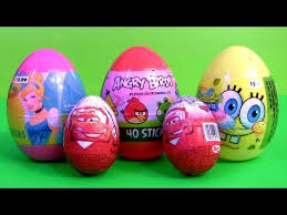 disney cars egg with angry birds spongebob