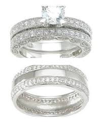 wedding ring trio sets swarovski wedding ring sets simple trio wedding ring sets