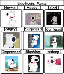 Family Guy Cleaning Lady Meme - emotions meme brian griffin by sonicandtailsfan64 on deviantart