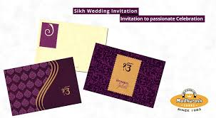 Sikh Wedding Card Sikh Wedding Cards Invitation To Passionate Celebration My