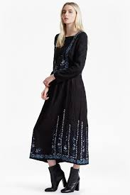 black floral embroidered dress frenchconnection