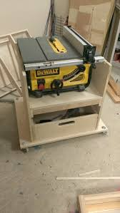 diy table saw stand with wheels mobile stand for my new table saw