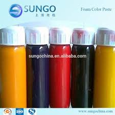 polyurethane pu foam water based pigment color paste for foam