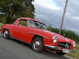 classic red mercedes david gandy mercedes benz 190sl restoration hilton u0026 moss