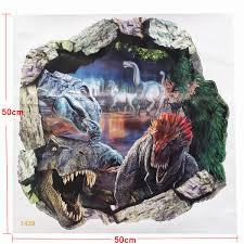 56 3d dinosaur wall art 3d dinosaur wall art stickers removable 3d view dinosaur jurassic park wall sticker decal mural art kids room
