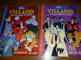 disney villains rare coloring books