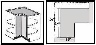 sizes of kitchen wall cabinets bls36 kitchen corner base cabinet lazy susan 34 1 2 w x