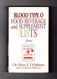 Or Books A New Type Blood Type O Food Beverage And Supplement Lists From Eat Right