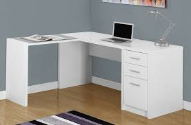 White Corner Workstation Desk White Corner Computer Desk Creating A Modern Look With