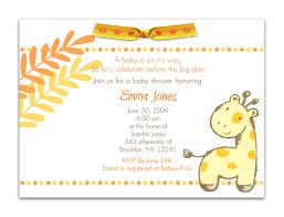 Free Baby Shower Invitation Templates Giraffe Baby Shower Invitations Template Themesflip Com