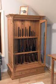 Free Woodworking Plans Gun Cabinets by Amish Made Custom Gun Cabinets The Wood Loft Amish Custom Made